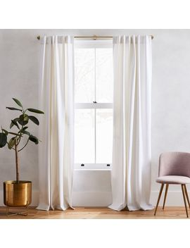 Washed Cotton Canvas Curtains (Set Of 2)   White by West Elm