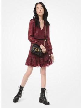 Plaid Ruffled Jacquard Mini Dress by Michael Michael Kors