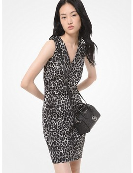 Leopard Print Scuba Dress by Michael Michael Kors