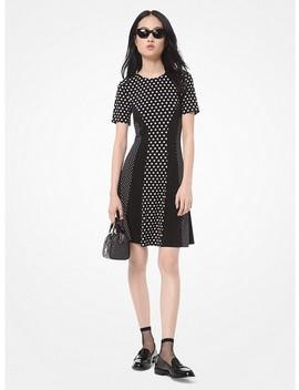 Mixed Polka Dot Matte Jersey Dress by Michael Michael Kors