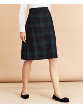 Tartan Pleated Skirt by Brooks Brothers