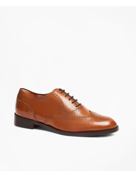Leather Wingtip Brogues by Brooks Brothers