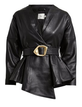 Harlow Belted Leather Jacket Harlow Belted Leather Jacket by Aje Aje