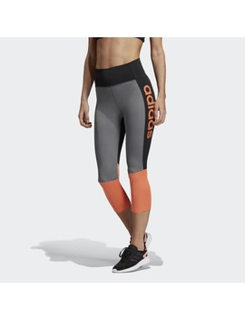Design 2 Move High Rise 3/4 Logo Leggings by Adidas