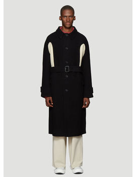 Knit Insert Coat In Black by Jw Anderson