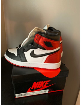 Air Jordan 1 High Retro Og Satin Black Toe by Nike  ×  Jordan Brand  ×