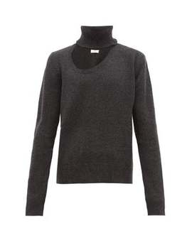 Cut Out Roll Neck Wool Blend Sweater by Bottega Veneta