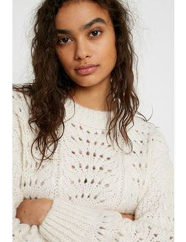 Uo   Pull En Tricot Maille Pointelle Resserrée by Urban Outfitters
