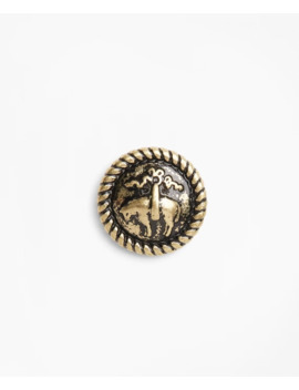 Distressed Gold Toned Lapel Pin by Brooks Brothers