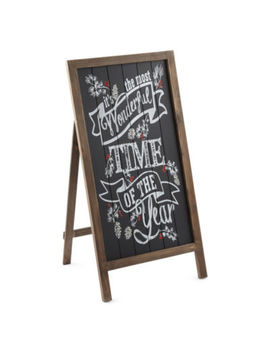 North Pole Trading Co. Chalkboard Easel Sign Yard Art by North Pole Trading Co
