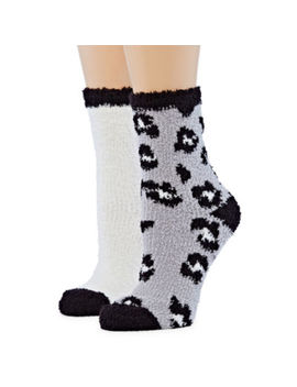 Mixit 2 Pair Cozy Crew Socks   Womens by Mixit