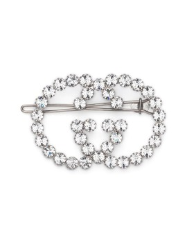 Crystal Interlocking G Hair Clip by Gucci