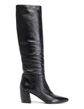 Leather Knee Boots by Prada