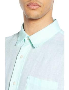 Regular Fit Linen Sport Shirt by Vince