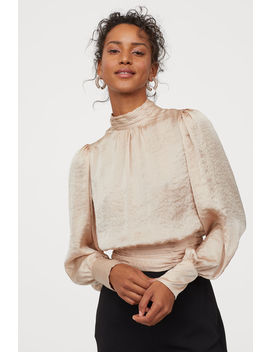 Блуза от сатен с връзки by H&M