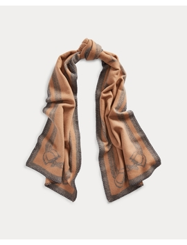 Big Pony Wool Scarf by Ralph Lauren