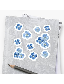 Little Blue Flowers ~ Stickers Sticker by Apricot Blossom
