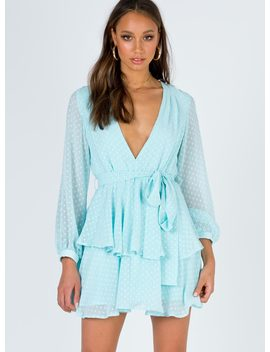 Legendary Lovers Plunge Dress Mint by Princess Polly