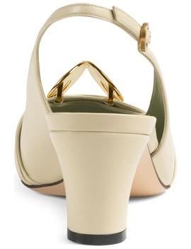 Usagi Square Toe Slingback Pump by Gucci