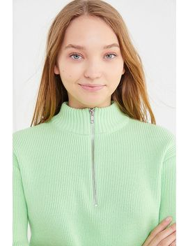 Uo   Pull Court Hill Avec Col Zippé by Urban Outfitters