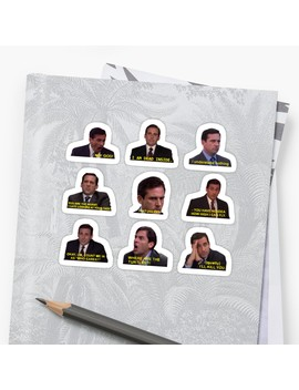 Michael Scott Quotes From The Office Sticker by Katie's Redbubble