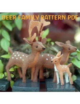 Deer Family Pattern Pdf, Felt Sewing Pattern, Buck, Doe, Fawn, Felt Toy, Woodland by Etsy