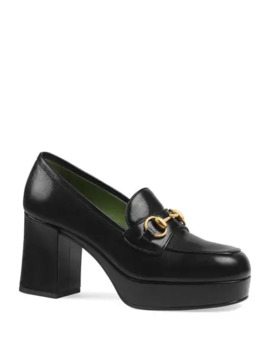 Gucci Houdan 85mm Leather Loafer Pumps by Gucci