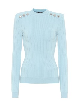Embellished Wool Blend Sweater by Balmain