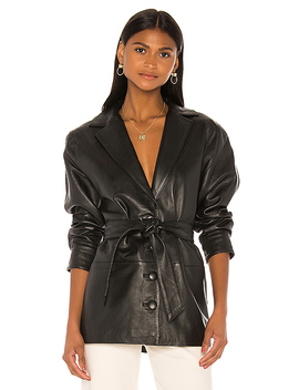Bennie Leather Jacket In Black by Song Of Style