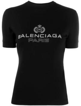 Logo Emblem Printed T Shirt by Balenciaga
