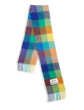 Valley Alpaca Blend Check Scarf by Acne Studios
