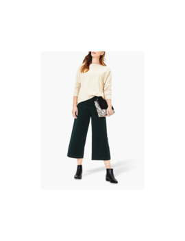 Oasis Cord Wide Leg Trousers, Deep Green by Oasis