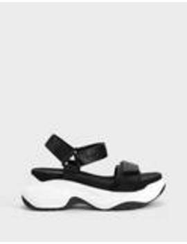 Textilní Sportovní Sandály Na Platformě by Bershka