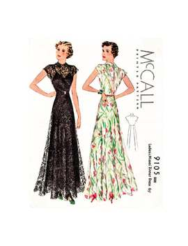 Vintage Sewing Pattern 1930s Evening Dress // // Dinner Gown // English And French // Pick Your Size Bust 32 34 36 38 40 42/ 1930 by Etsy
