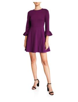 Bell Sleeve Ponte Skater Dress by Kate Spade New York
