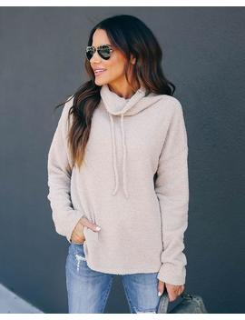 Well Rested Soft Knit Drawstring Sweater by Vici