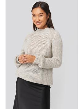 Bike Collar Knitted Sweater Grey by Trendyol