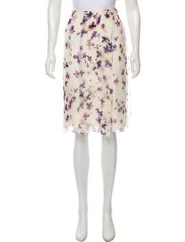 Floral Knee Length Skirt by Carolina Herrera