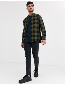 New Look Shirt In Green Buffalo Plaid by New Look