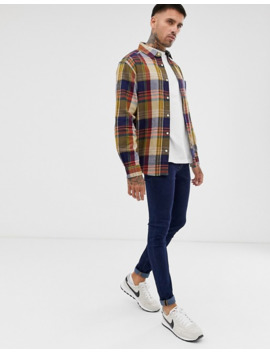 Pull&Bear Check Shirt In Multi by Pull&Bear