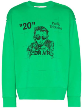 'public Television' Pullover Mit Print by Off White