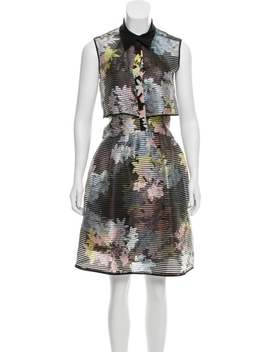 Sleeveless Overlay Dress by Erdem