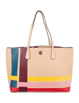 Perry Variegated Stripe Leather Tote by Tory Burch