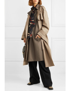 Belted Layered Two Tone Cotton Gabardine Trench Coat by Rokh