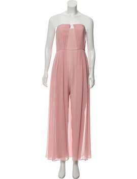 Straight Leg Strapless Jumpsuit by Halston Heritage