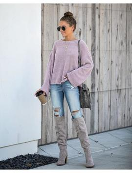 South For The Winter Soft Knit Top   Mushroom by Vici