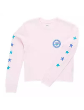 Girls Side Stripe V Long Sleeve Tee by Vans