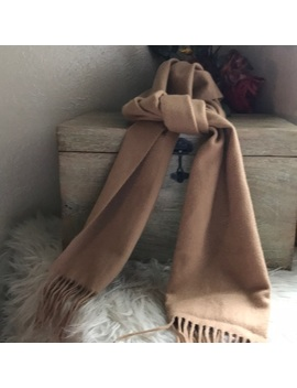 New Nordstrom Cashmere Fringe Camel Brown Scarf Preowned/Used by Nordstrom