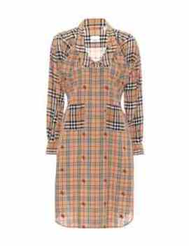 Checked Silk Shirt Dress by Burberry