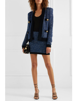 Jacke Aus Metallic Tweed by Balmain